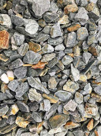 Kora Kamienna Srebrna Kamień Ozdobny Gnejs 11-32mm 30-60mm Tona 1000kg