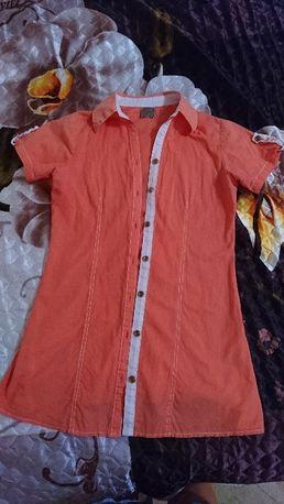 Коттоновая рубашка-туника