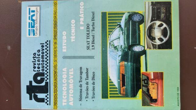 Seat Toledo 1.9D / TD Revista mecânica, manual oficina