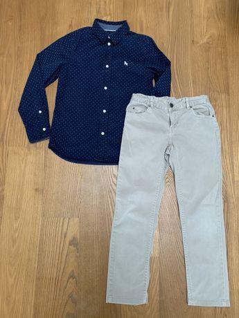 Elegancka wizytowa koszula dla chlopca H&M, spodnie Zara
