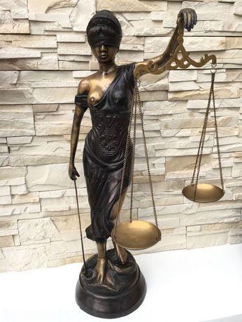 9kg 78 cm Temida Bogini Sprawiedliwości Rzeźba Figura Posąg z brązu
