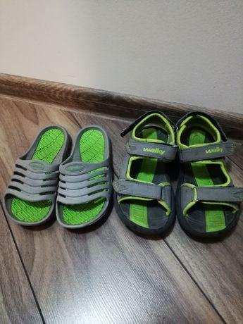 Zestaw letni sandały klapki 32