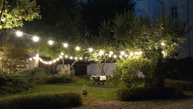 Girlanda świetlna LED retro na przyjęcia, wesela chrzciny 50mb