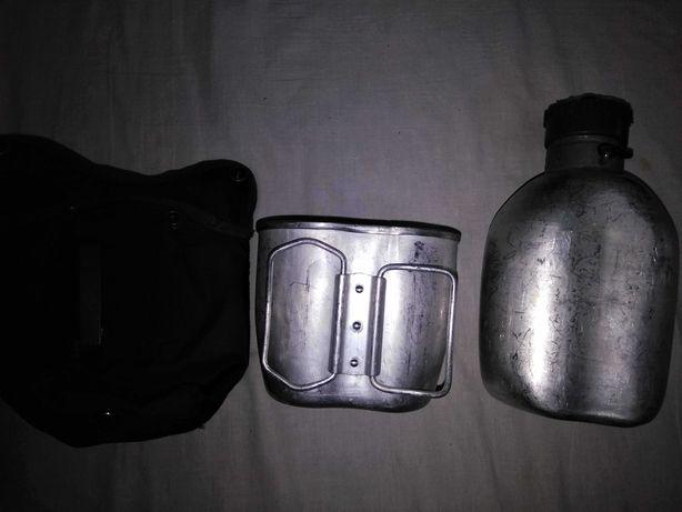 Фляга алюминиевая с подстаканником в чехле Австрия б/у