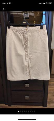 Бежевая юбка на пуговицах per una размер 20 европейский