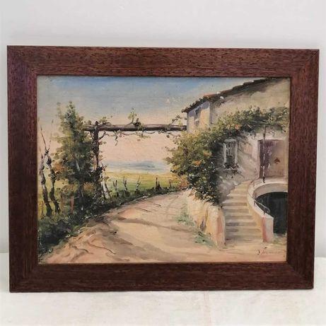 Quadro Casa do Campo (óleo sobre tela 48x38)