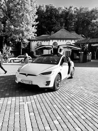 Авто на весілля Tesla Model X Свадебное авто, свадьба, кортеж