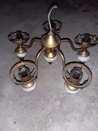 Lampa mosiężna starodawna