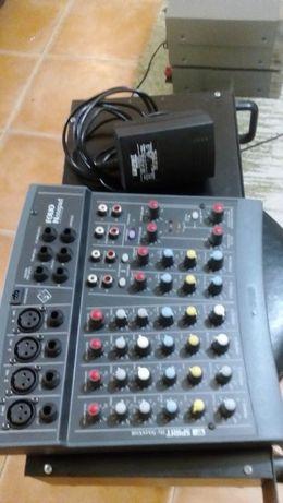 Pa completo,amplificador, mesa de mistura e colunas profissionais