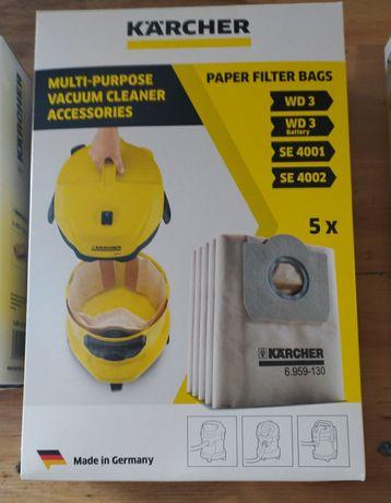 Набор бумажных одноразовых мешков для пылесосов KARCHER WD 3, A 22.