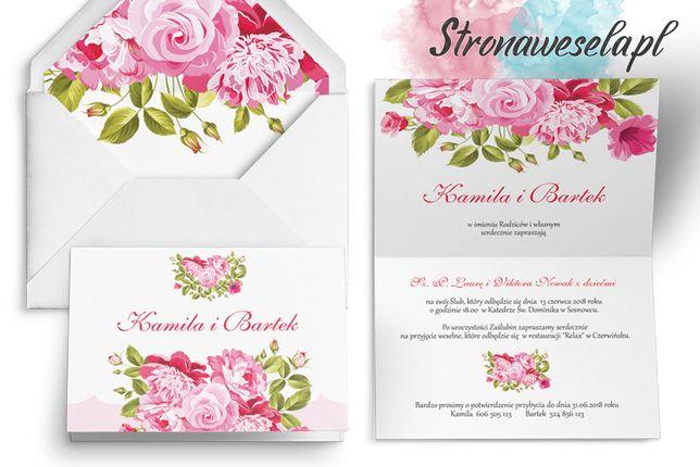 Zaproszenia ślubne, Zawiadomienia - Wiosenny Kwiat (18 wzorów)