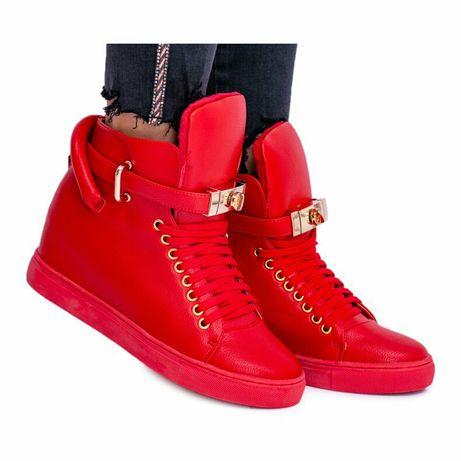 Buty ocieplane czerwone