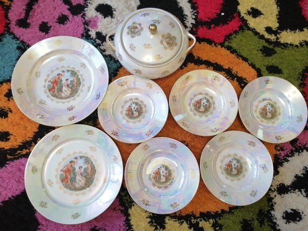 Мадонна большое блюдо супница глубокие тарелки набор фарфор германия