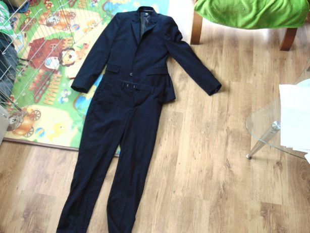 Garnitur , marynarka + spodnie H&M Slim Fit, granatowe