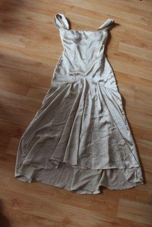nowa piękna sukienka cielista beżowa rozmiar 38