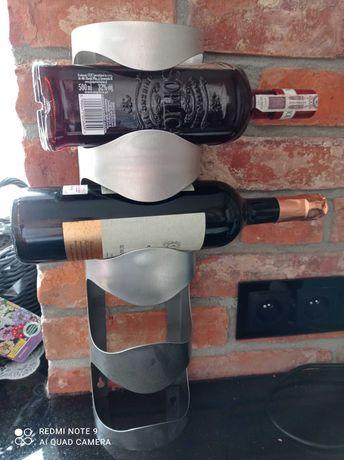 Uchwyt stojak na 4 butelki wina, stal nierdzewna IKEA
