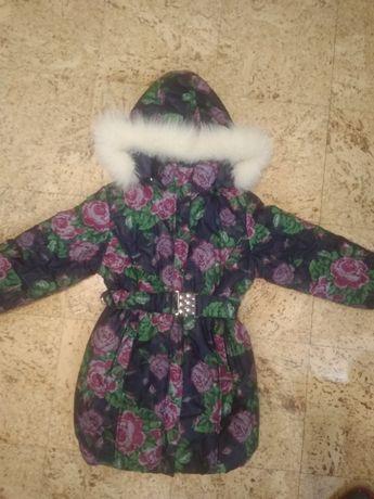 Пальто зимнее 116-128