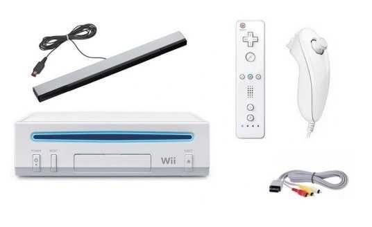 Konsola Nintendo Wii Pełny Komplet Zestaw Sensor Sterowanie ruchem !