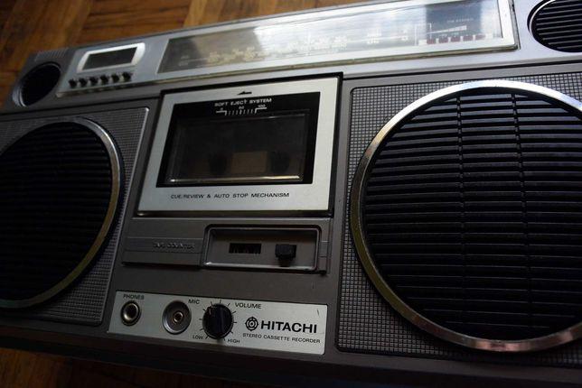 HITACHI TRK-8110E Made in Japan Oryginalny Sprawny Radiomagnetofon