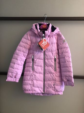 Розовая куртка-пуховик для девочки Reima Juuri р.122