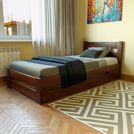 Деревянная односпальная кровать Моно, массив, ДОСТАВКА БЕСПЛАТНАЯ