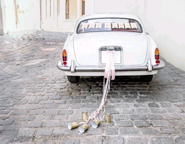 Zestaw deklaracji samochodowych,Mąż Żona ,jasnoróżowy