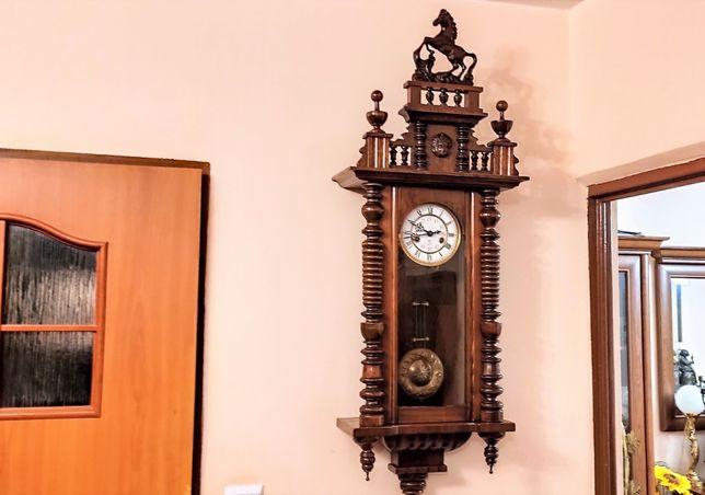 Gustav Becker niespotykany, przepiękny stylowy zegar wiszący