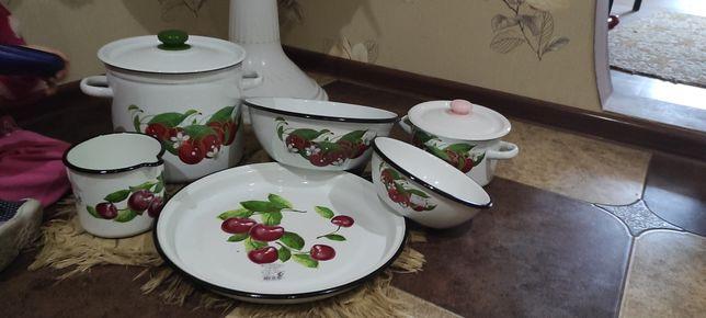 Посуда эмаль,нержавейка.Кастрюли,чайники,миски,сковородки, кружки