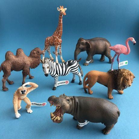Игрушка фигурка Шляйх Schleich жираф слон верблюд зебра лев тигр лось