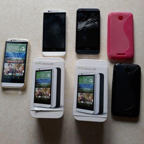 Telefon HTC 510 Desire - 2 szt + 3 szt etui