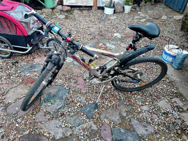 Rower męski 26 z przyczepą