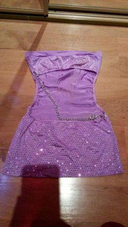 Mini sukienka swiecaca