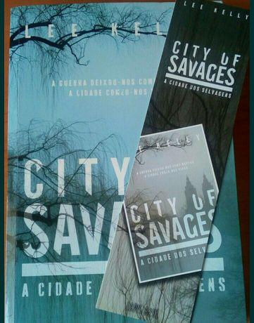 """Livro """"City of savages: a cidade dos selvagens"""" de Lee Kelly"""