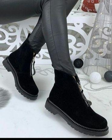 Новые зимние ботинки. Замш/внутри мех. 40 размер