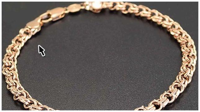 Золотой браслет 585 бисмарк