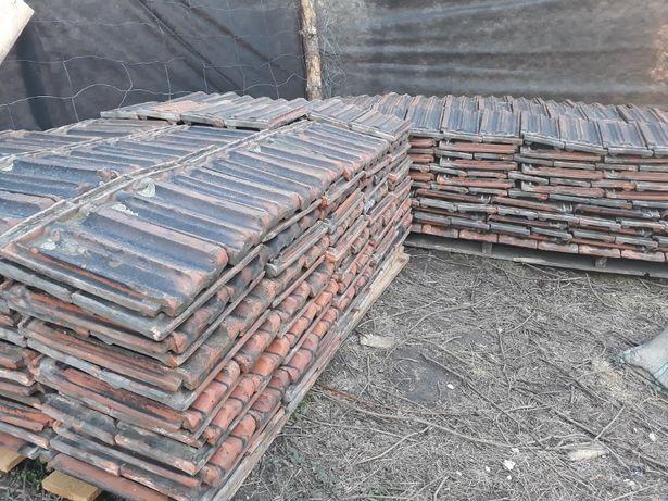 Stara dachówka ceramiczna - Cegielnia Płaszów 0,80 zł/sztukę
