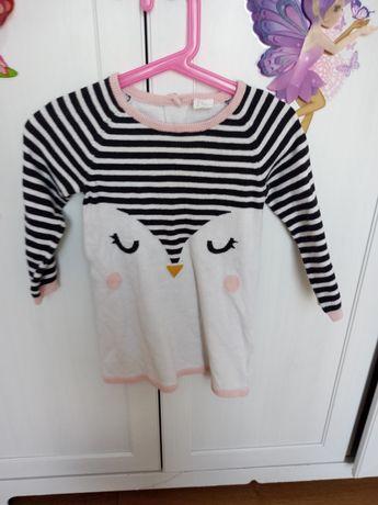 Sukienka h&m pingwin zimowa