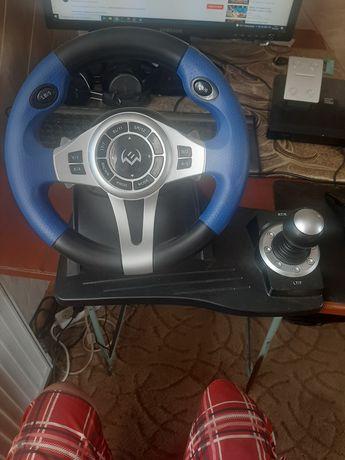 Ігровий руль Sven GC-W600 PC/PS3 з педалями