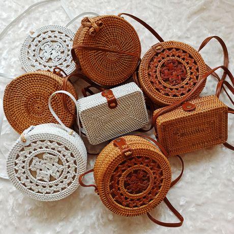 Розпродажа. Сумка из ротанга, соломенная сумочка, плетенная сумка