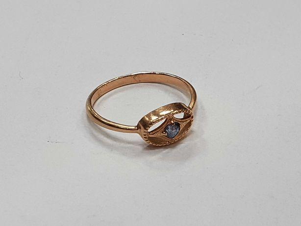Klasyczny złoty pierścionek damski/ 583/ 1.71 gram/ R16