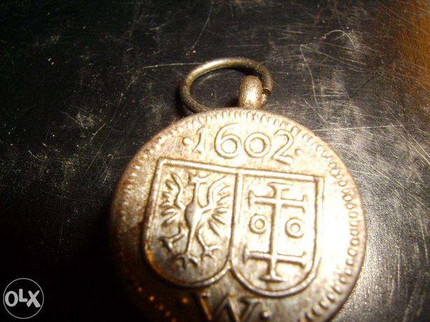 Medalion,wisiorek Jan III Sobieski antyk zabytek
