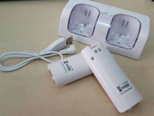 L038 DocK Station Nintendo Wii + 2 Baterias 2800mAh