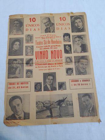 Cartaz muito antigo 1959