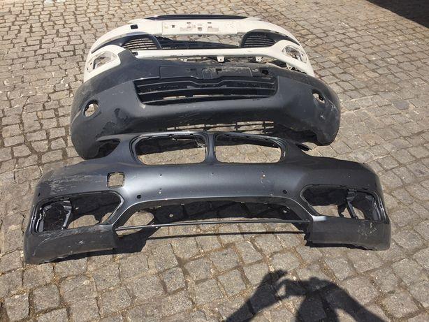 Pára-choques bmw, Opel, nissan, Capôt Audi A4, Peugeot 307 e Clio III.
