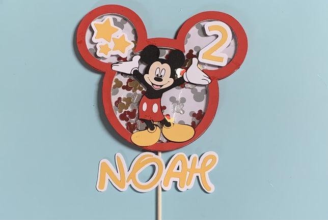 Decoração de bolo de aniversário Mickey, disney, festa,