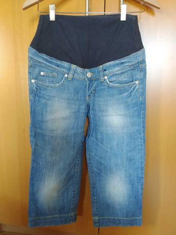 Spodnie ciążowe H&M mama 36 S dżinsy fason 3/4 używane stan bdb
