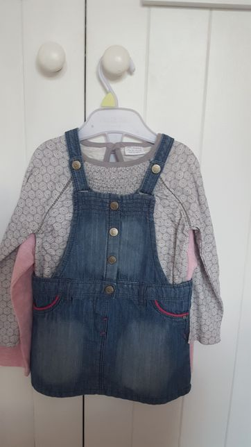 Piękny NOWY Komplet 2 bluzeczki i sukienka z metkami roz. 80 i 86