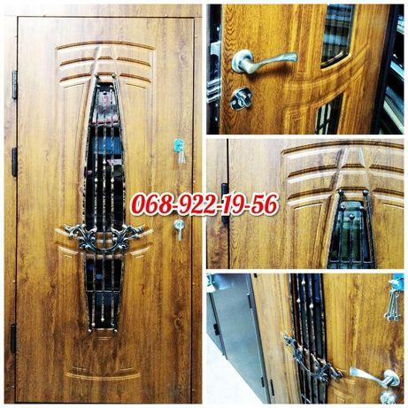 Вхідні металеві броньовані двері бронедвері в квартиру
