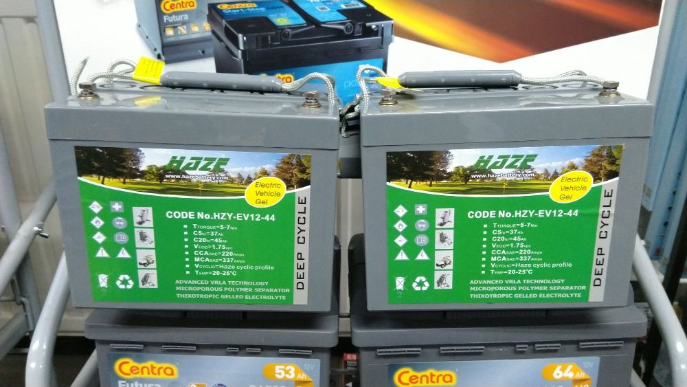 Akumulator Haze HZY-EV12-44 GEL 12V 44Ah Wózek inwalidzki, golfowy