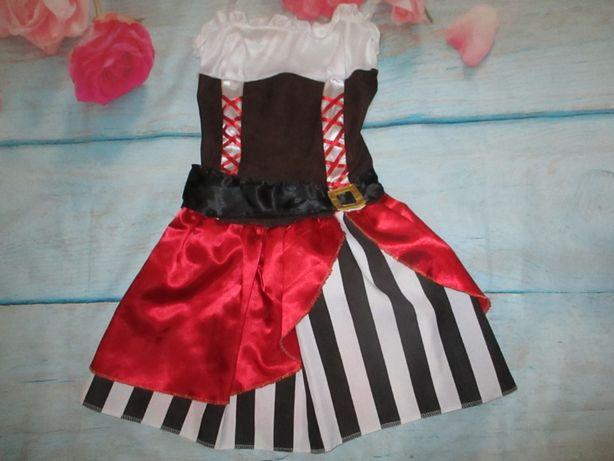 Карнавальное женское платье пиратка разбойница на хеллоуин.новый год